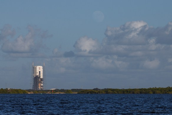 Moon rise, Kennedy Space Center, Florida