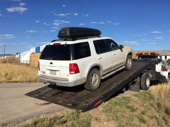 SUV breakdown