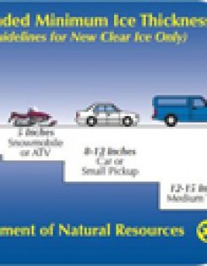 Ice safety chart also fishing report minnesota fish february rh jeffsundin