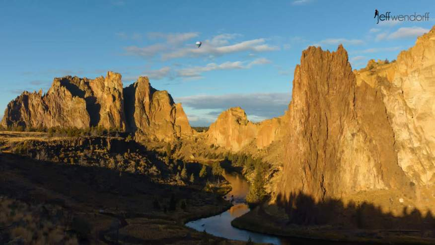 Crooked River flowing through Smith Rock State Park in Oregon by Jeff Wendorff
