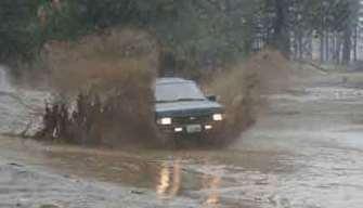 Muddy Nissan Pathfinders!