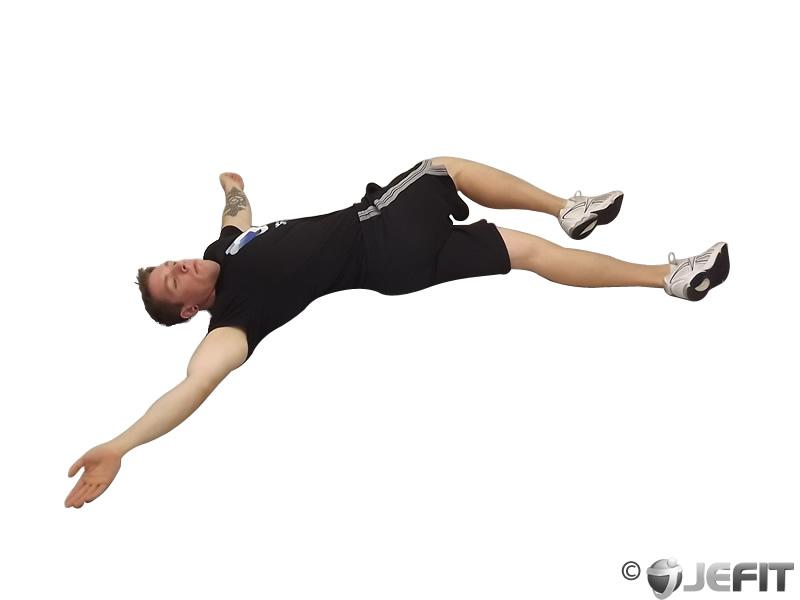 Cross Legged Lying Side Stretch  Exercise Database