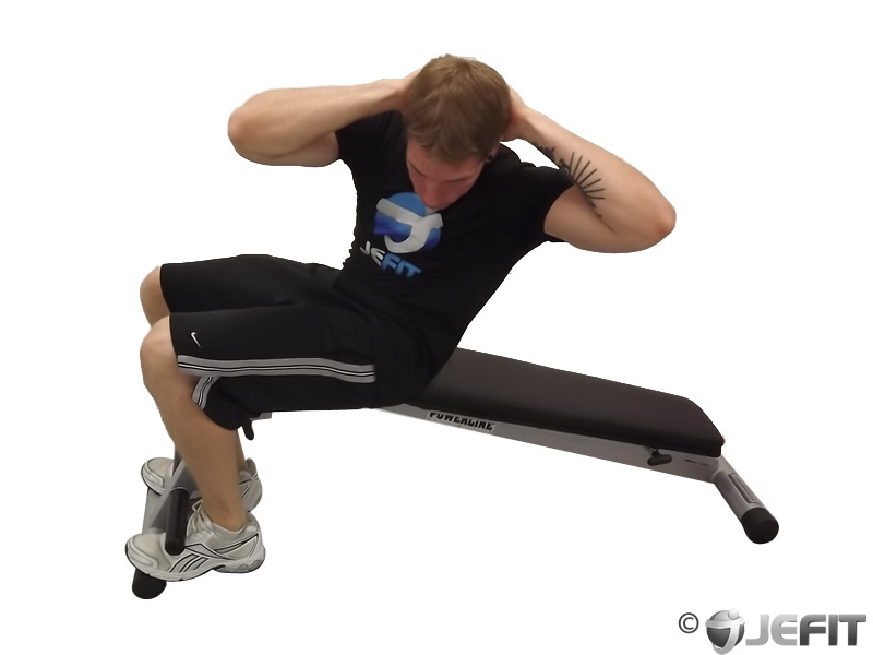 Decline Bench Twisting Sit Up Exercise Database Jefit