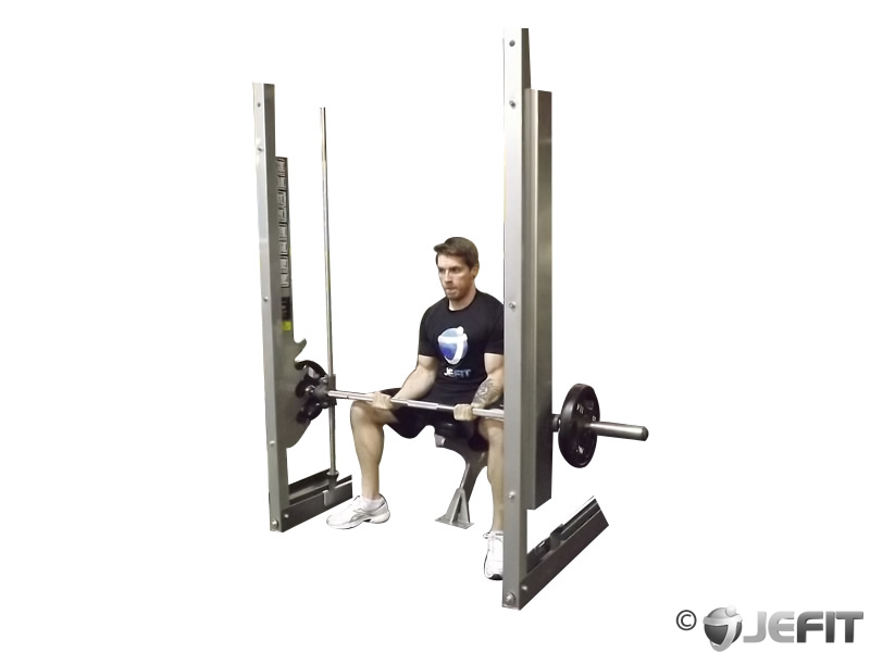Smith Machine Seated Wrist Curl Exercise Database
