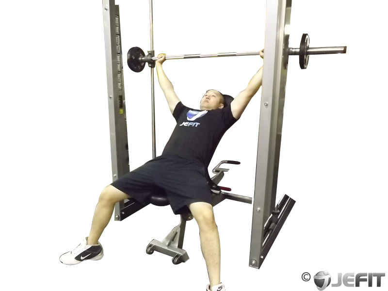 Smith Machine Wide Grip Shoulder Press Exercise Database