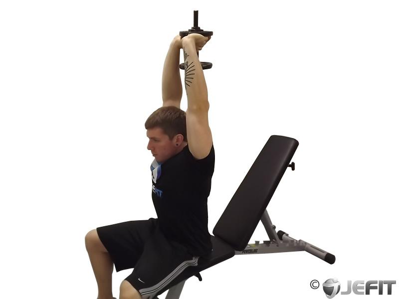 Dumbbell Seated Triceps Press - Exercise Database | Jefit ...
