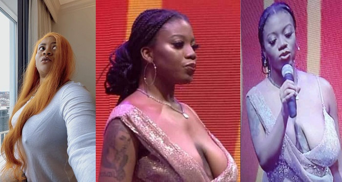 Actress, Nkechi Blessing Sunday goes braless to defend BBNaija's Angel who has been bodyshamed for her breasts