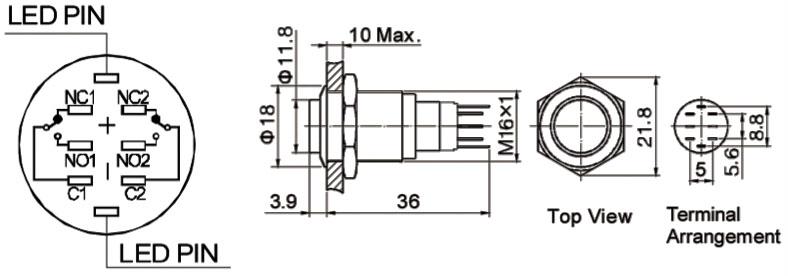 ORACLE Lighting 1802-002: Flush Mount LED Switch Momentary