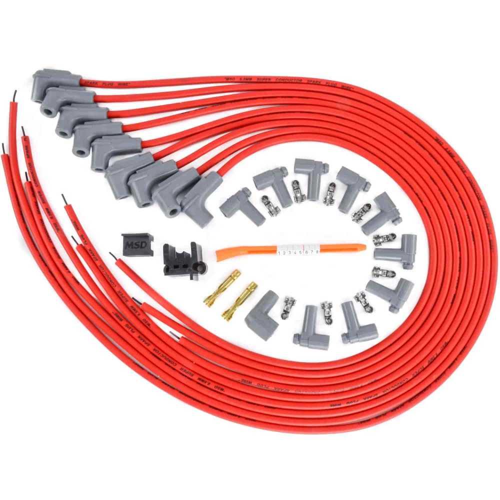 medium resolution of msd ignition 31229 red universal 8 5mm spark plug wire set 8 msd universal spark plug wire kit msd spark plug wire kit