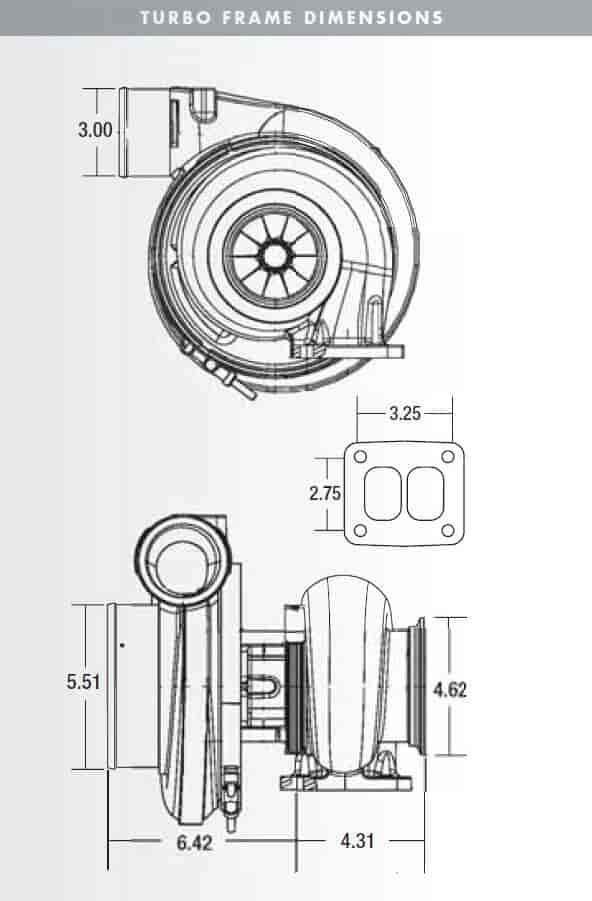 BorgWarner AirWerks S400SX3 82mm 750-1300 HP Turbocharger