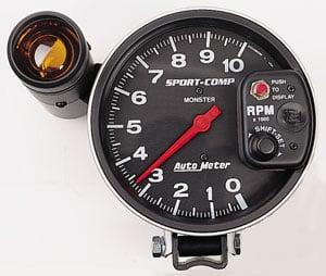 Rpm Tach Wiring Auto Meter 3904 Sport Comp Pedestal Mount Tachometer 5