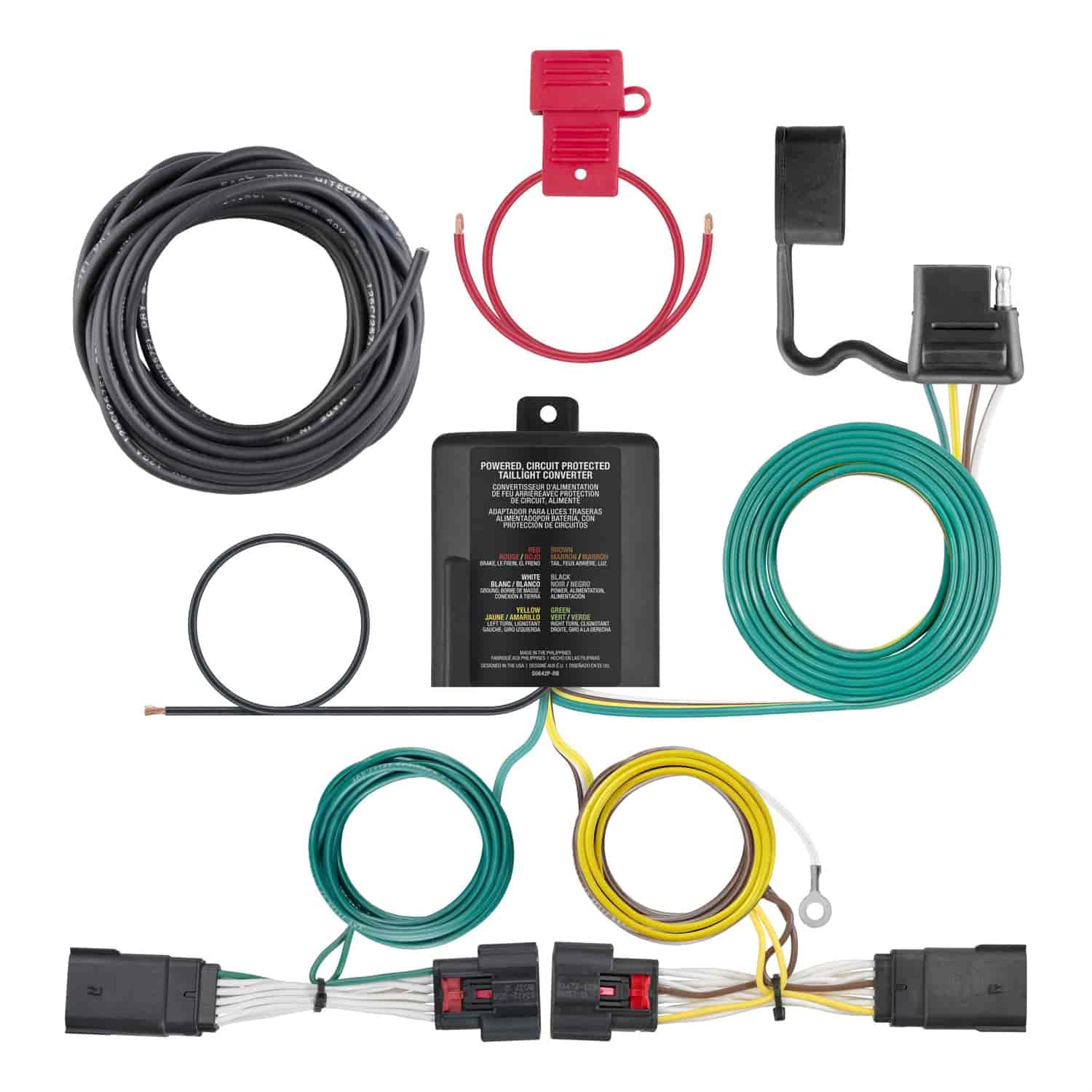 hight resolution of curt trailer hitch wiring kit for 2018 jeep wrangler jl curt 56407