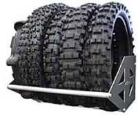 """RB Components 2350: Motorcycle Tire Rack 24"""" 