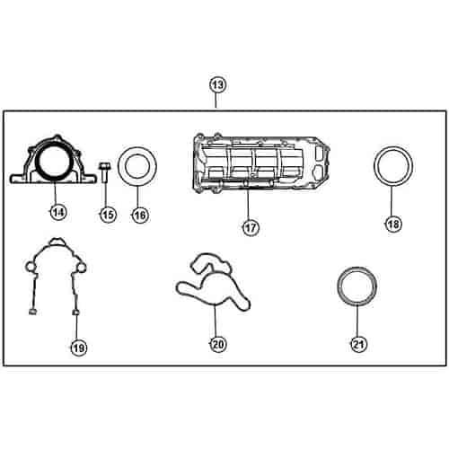 Mopar Accessories 05135457AF Lower Gasket Set 2006-12 5.7L