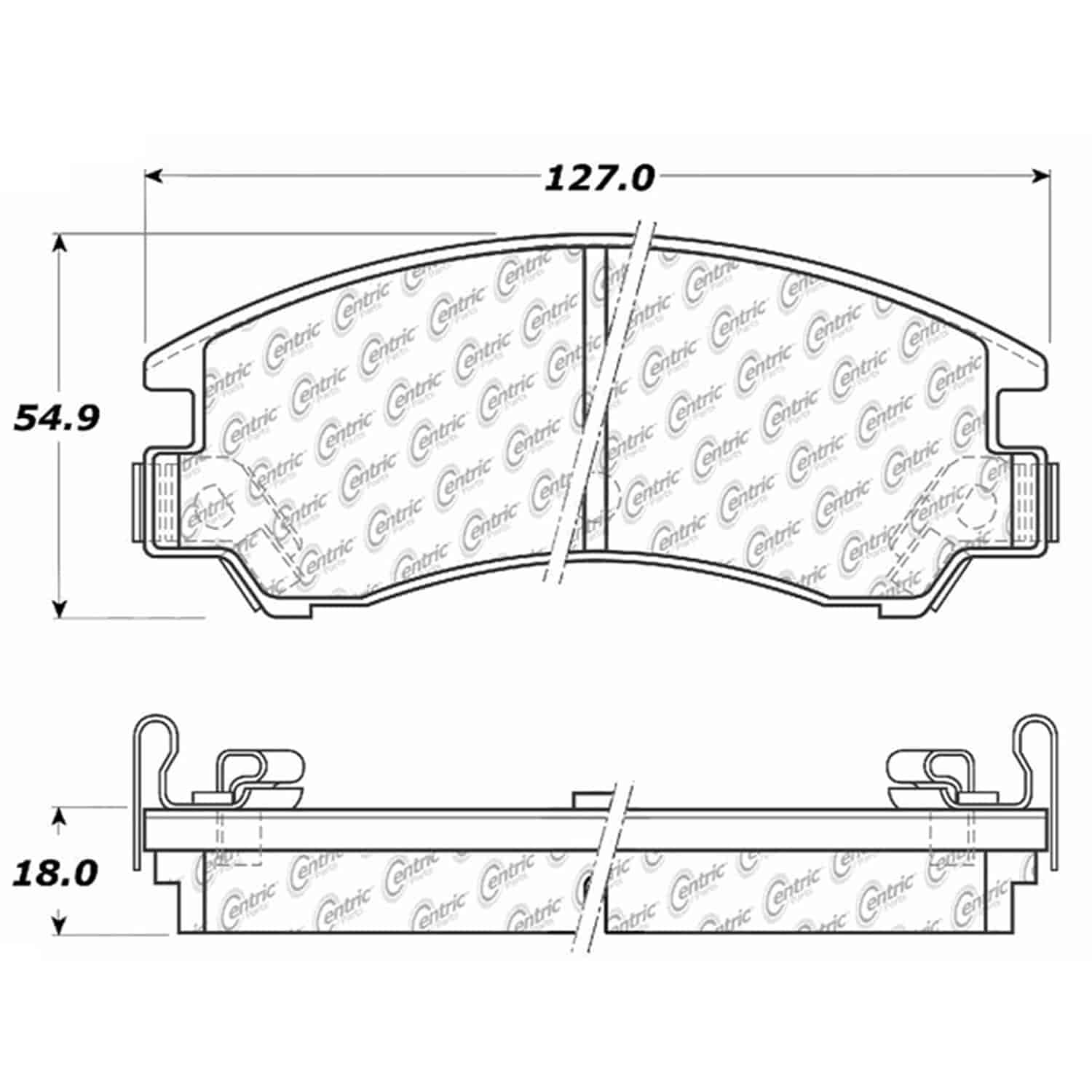 StopTech 105-03110: PosiQuiet Ceramic Pads 1985-1994 for