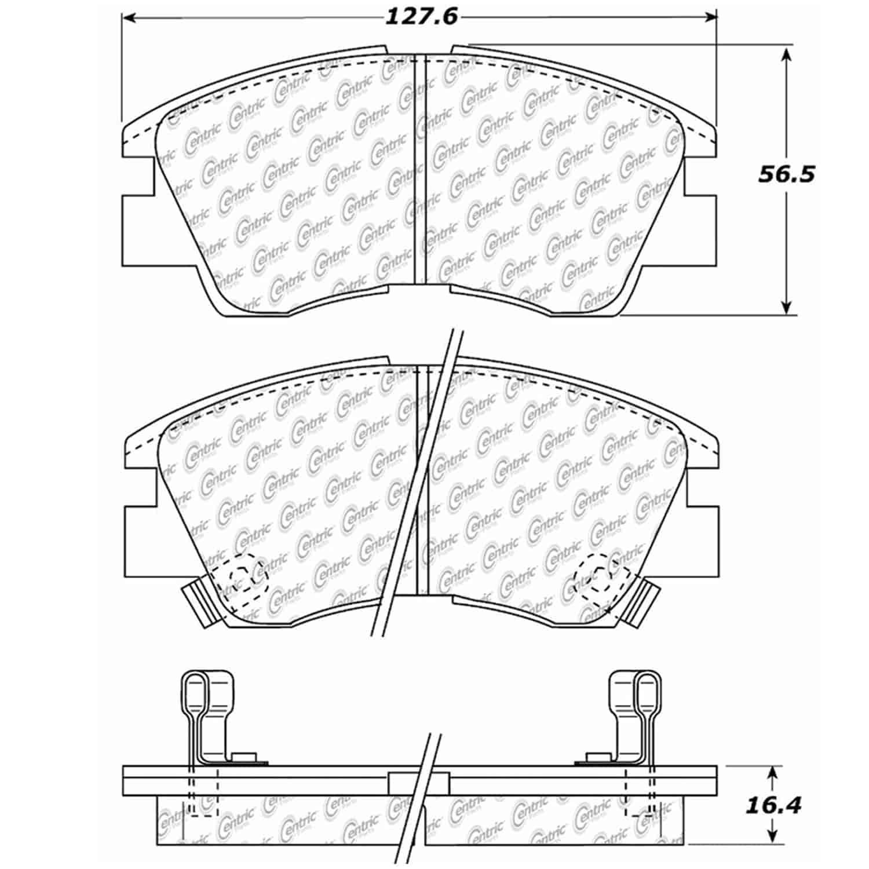 StopTech 105-03490: PosiQuiet Ceramic Pads 1986-2008 Dodge