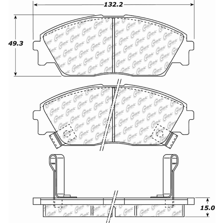 StopTech 105-03730: PosiQuiet Ceramic Pads 1988-1991 Honda