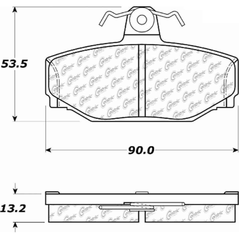 StopTech 105-03910: PosiQuiet Ceramic Pads 1988-2000 Volvo
