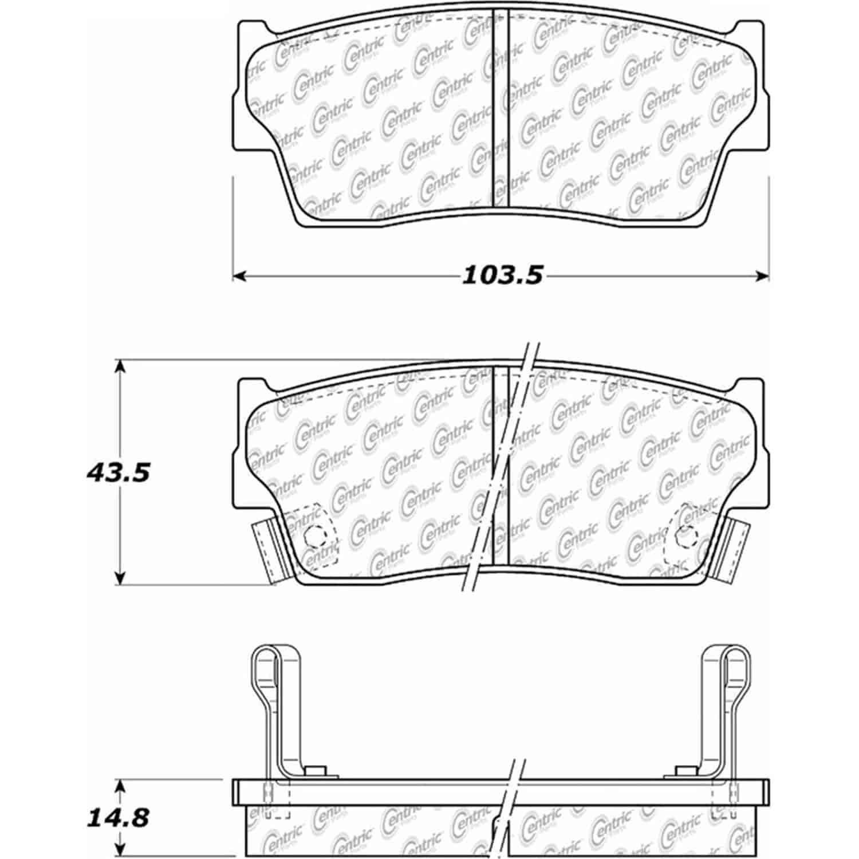 Stoptech 105 Posiquiet Ceramic Pads Asuna