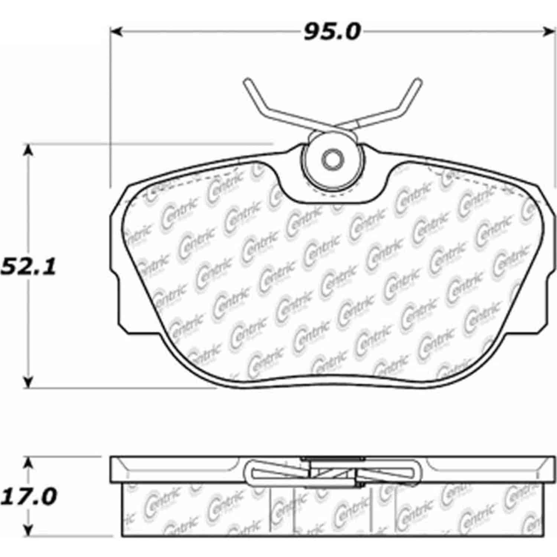 StopTech 105-04930: PosiQuiet Ceramic Pads 1984-2004 BMW