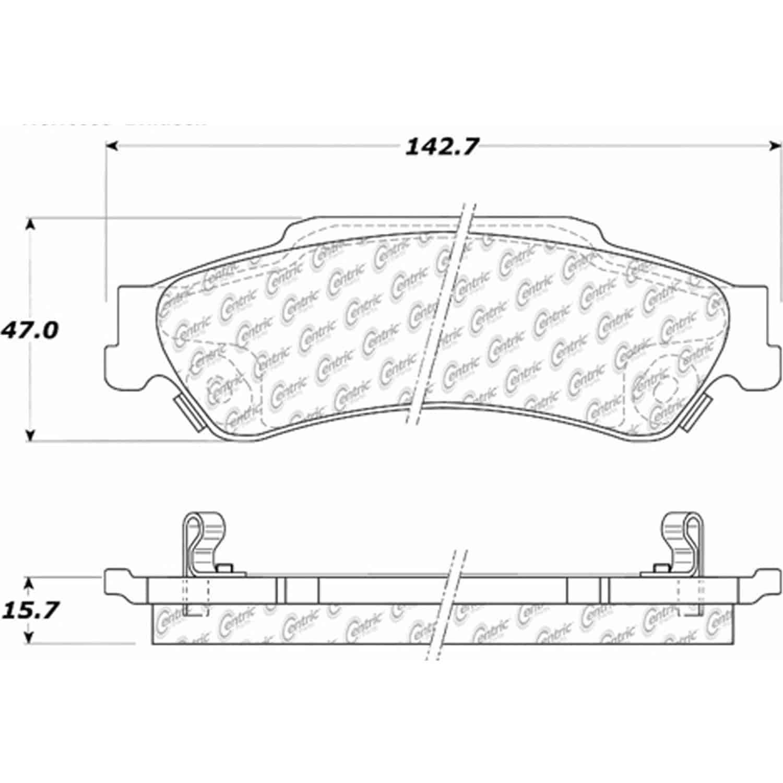Stoptech 105 Posiquiet Ceramic Pads Chevrolet Gmc Isuzu Oldsmobile Blazer