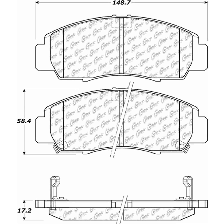 StopTech 105-07870: PosiQuiet Ceramic Pads 1999-2011 Acura
