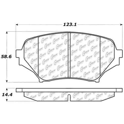 StopTech 104-11790 PosiQuiet Semi Met Pads 2006-2015 Mazda