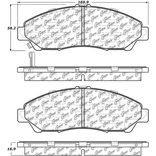 StopTech 105-13780 PosiQuiet Ceramic Pads 2007-2016 Acura