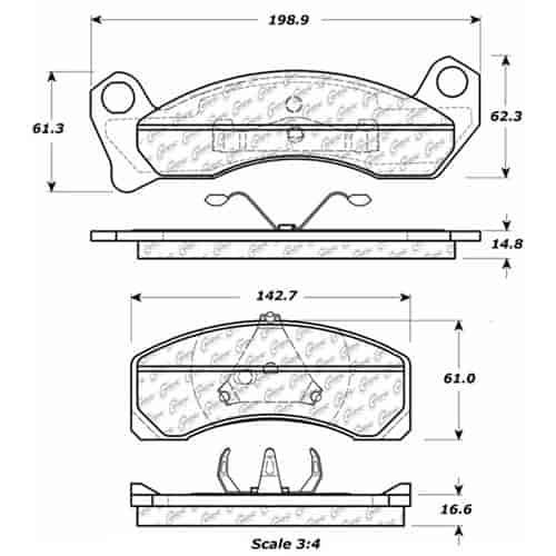 StopTech 106-04990 PosiQuiet Extended Wear 1979-1989 Ford