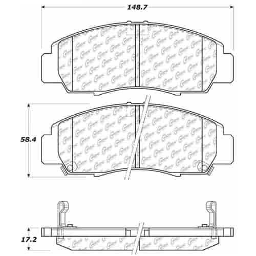 StopTech 106-07870: PosiQuiet Extended Wear 1999-2011