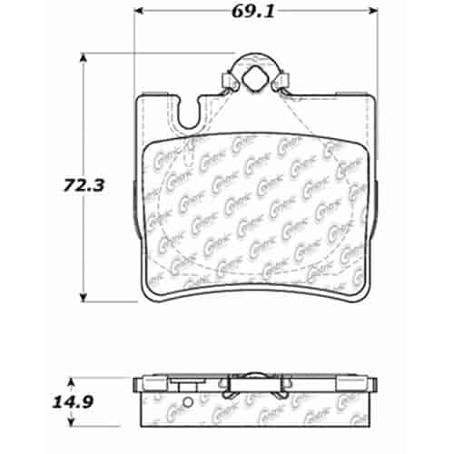 StopTech 106-08480: PosiQuiet Extended Wear 2000-2003