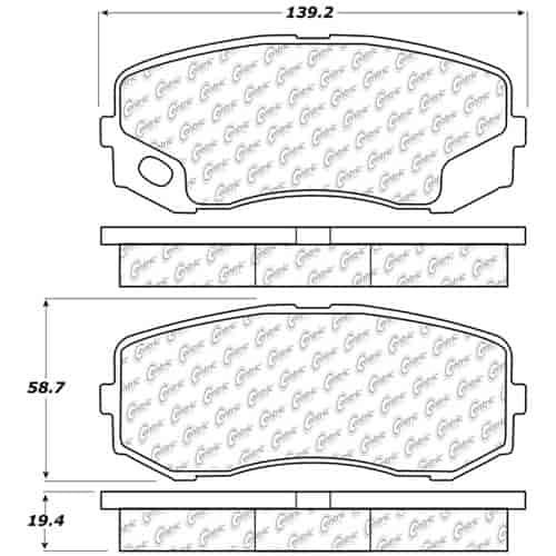 StopTech 106-12650: PosiQuiet Extended Wear 2005-2012