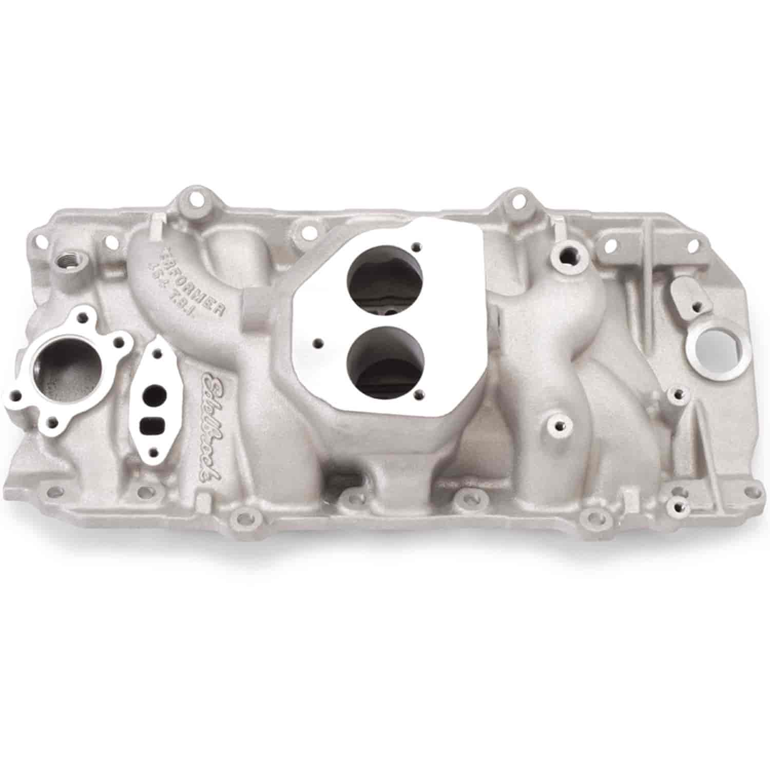 hight resolution of edelbrock performer 454 t b i big block chevy intake manifold