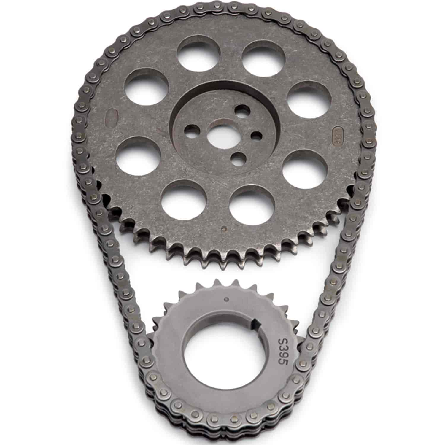 hight resolution of edelbrock stock replacement performer link timing chain set for 1965 1995 big block chevy 366 454 v8