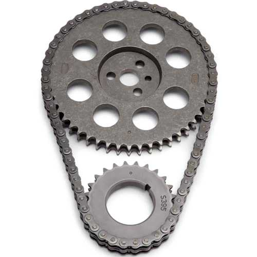 small resolution of edelbrock stock replacement performer link timing chain set for 1965 1995 big block chevy 366 454 v8