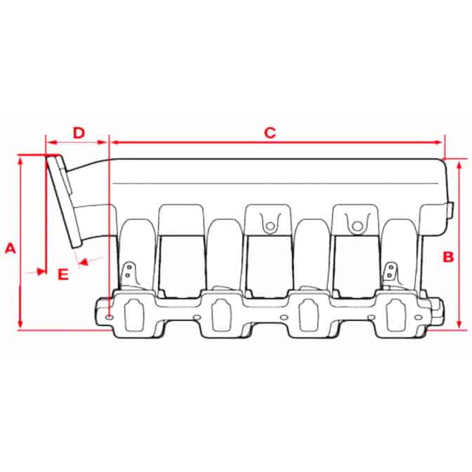 Edelbrock 7179: Edelbrock Victor II EFI Intake Manifold