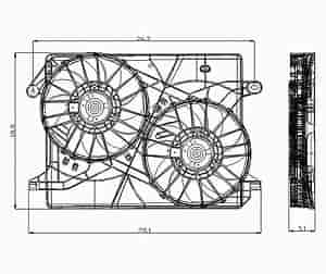 Sherman Parts 108-400: RAD COOLING FAN ASSY BLADE/SHROUD