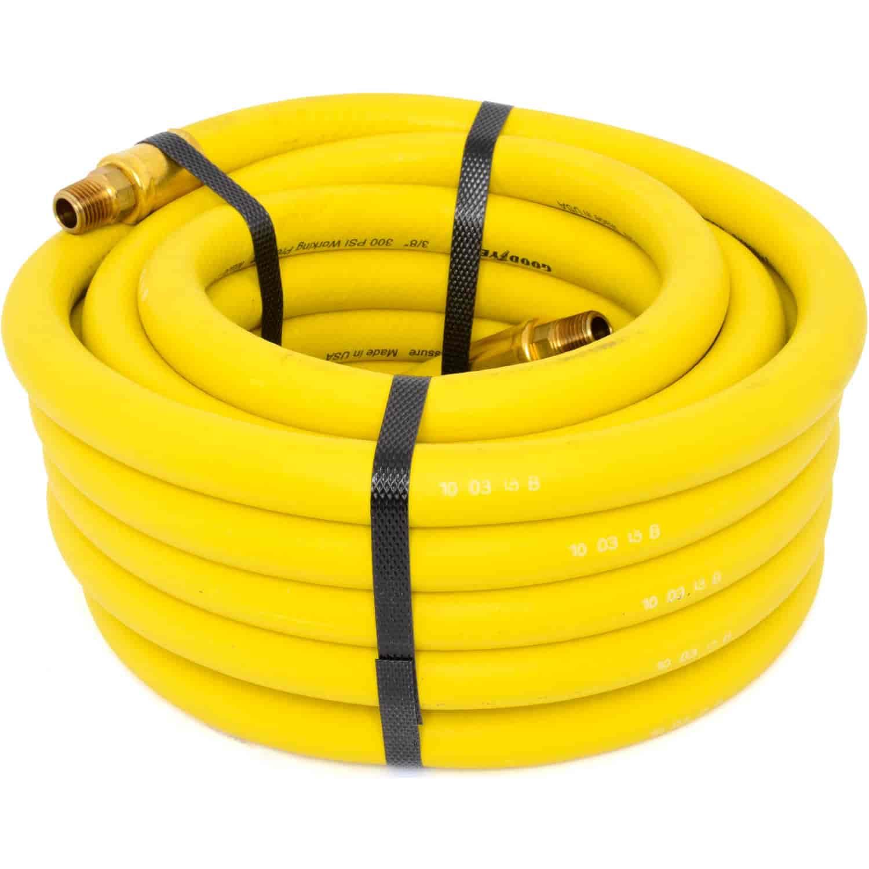 """Goodyear Air Hose 12910: Yellow Rubber Air Hose 3/8"""""""