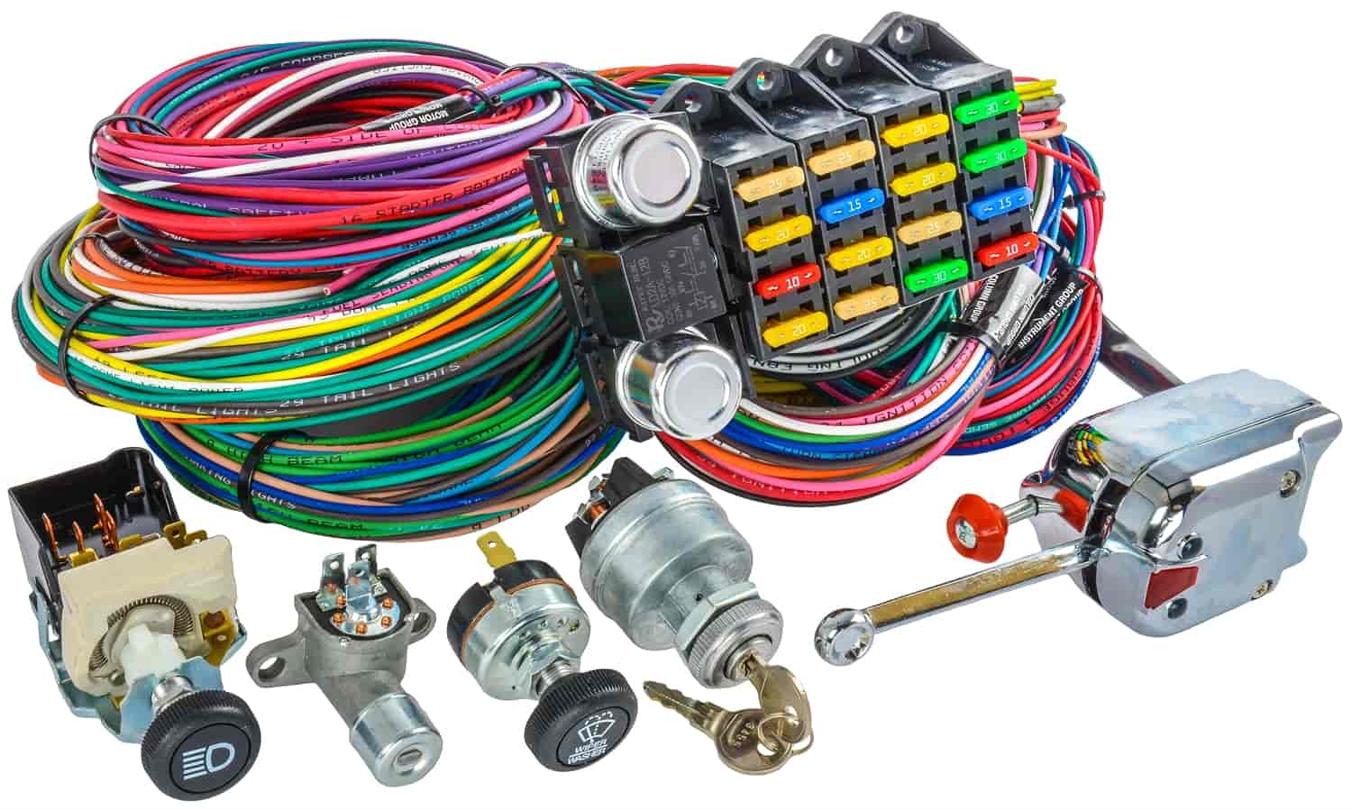hight resolution of jegs 10405k universal wiring harness switch kit 20 circuit jegs jegs universal wiring harness