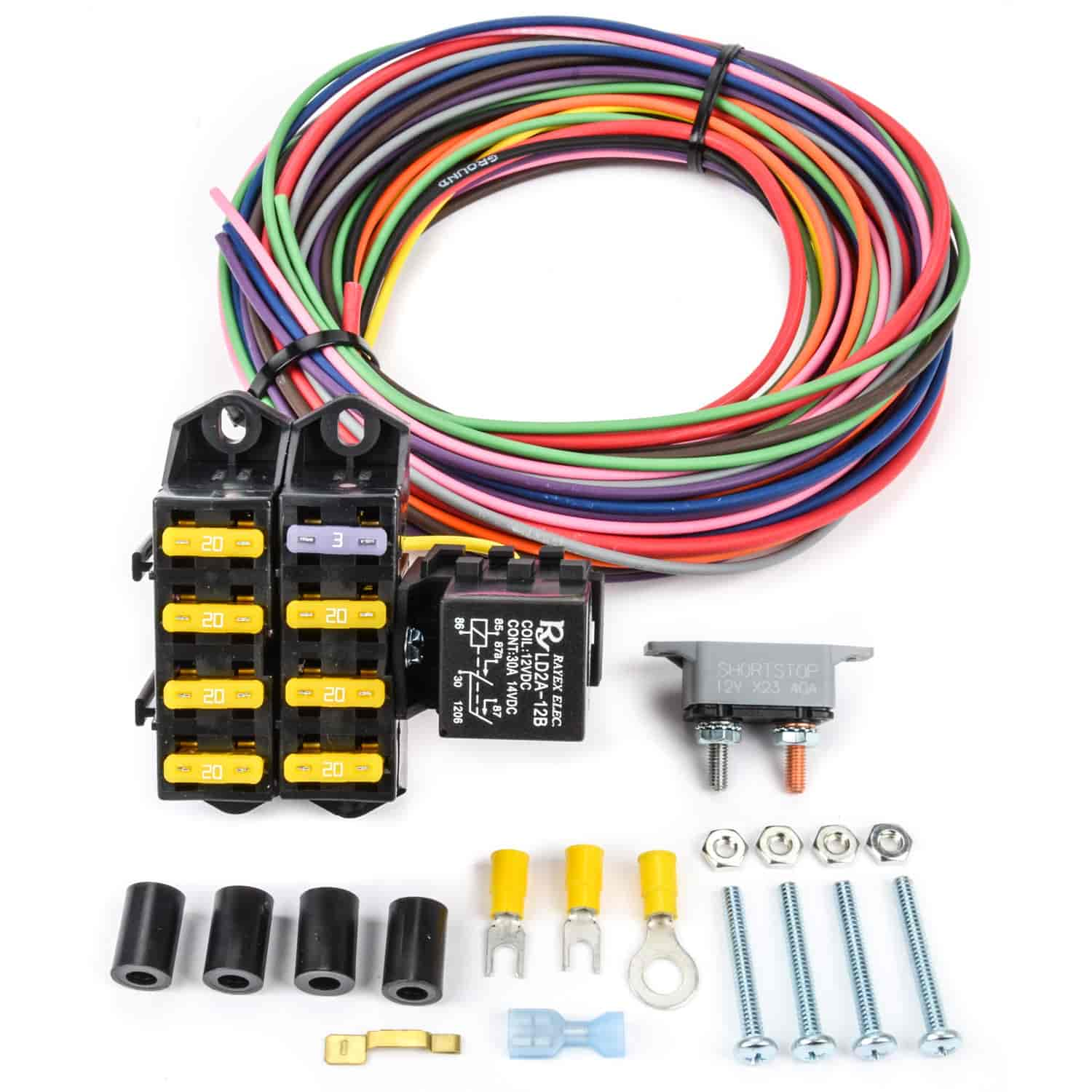 hight resolution of jegs 10430 auxiliary fuse block 7 circuit 4 circuits constant hot 2000 ford ranger fuse panel auxiliary fuse box with relay