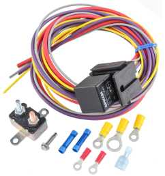 jegs 10559 manual controlled single fan wiring harness relay kit fan wiring harness relay [ 1500 x 1500 Pixel ]