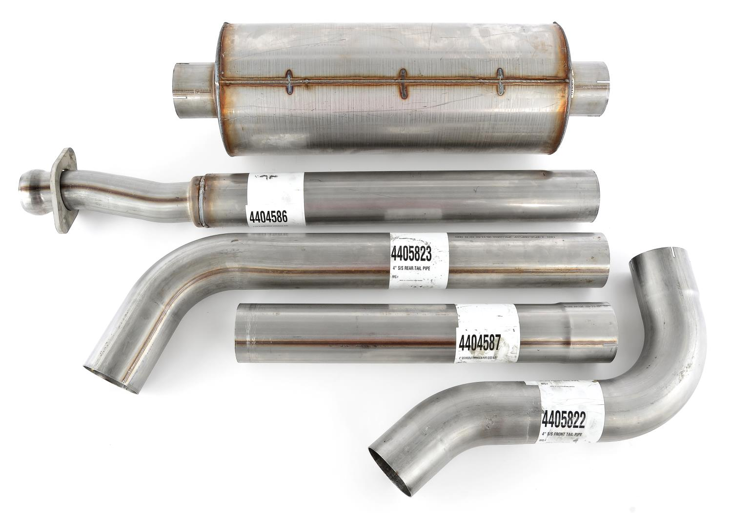 jegs cat back 4 in single exhaust system for 2011 2014 ford f 150 twin turbo ecoboost 3 5l v6 and coyote ti vct 5 0l v8
