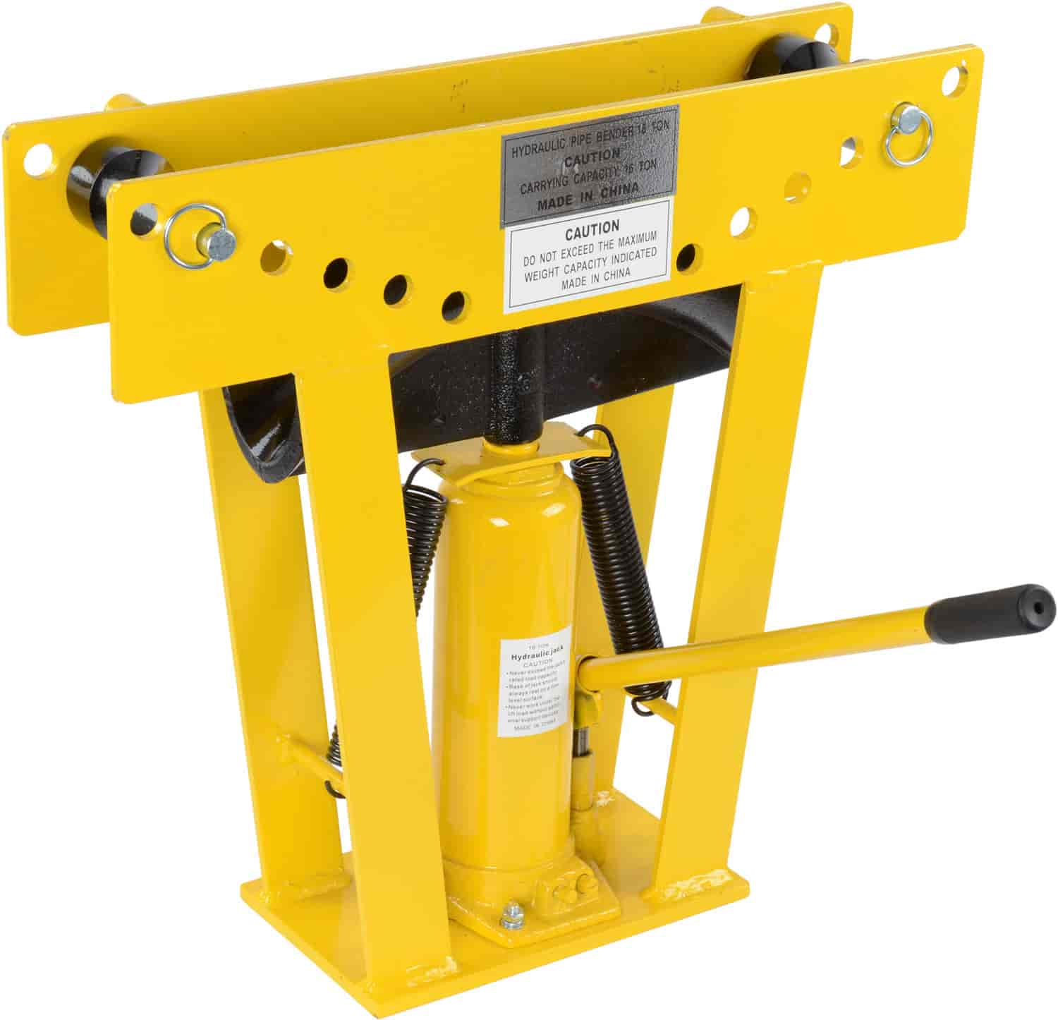 jegs 16 ton hydraulic pipe bender bends 1 2 in to 3 in o d pipe