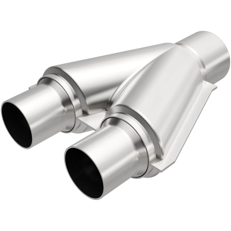 magnaflow tru y pipe 3 dual inlet 3 single outlet