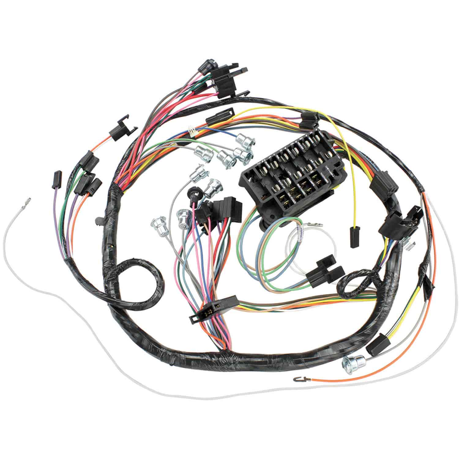 hight resolution of restoparts wiring harness dash 1966 chevelle el camino console c a c