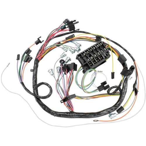 small resolution of restoparts wiring harness dash 1966 chevelle el camino console c a c