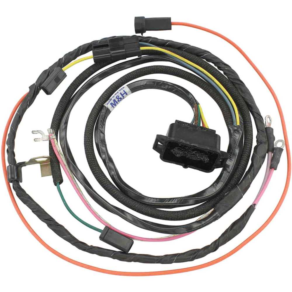 medium resolution of restoparts wiring harness engine 1966 chevelle el camino 396 gauges restoparts 10430