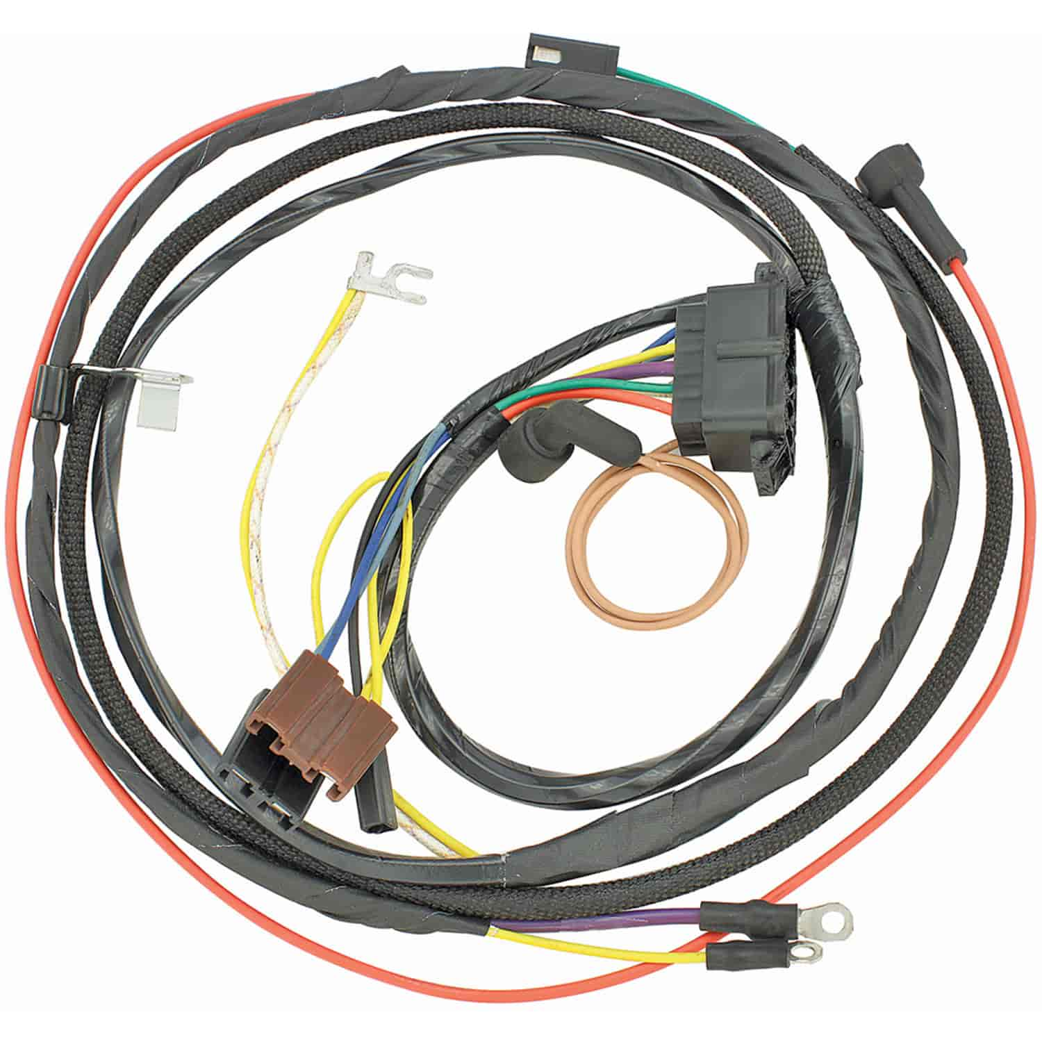 hight resolution of restoparts wiring harness engine 1967 chevelle el camino 396 gauges restoparts 10570