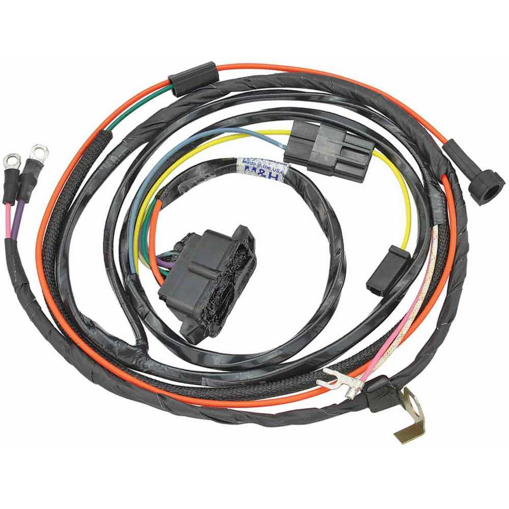 medium resolution of restoparts wiring harness engine 1966 chevelle el camino 327 shp gauges restoparts 17385