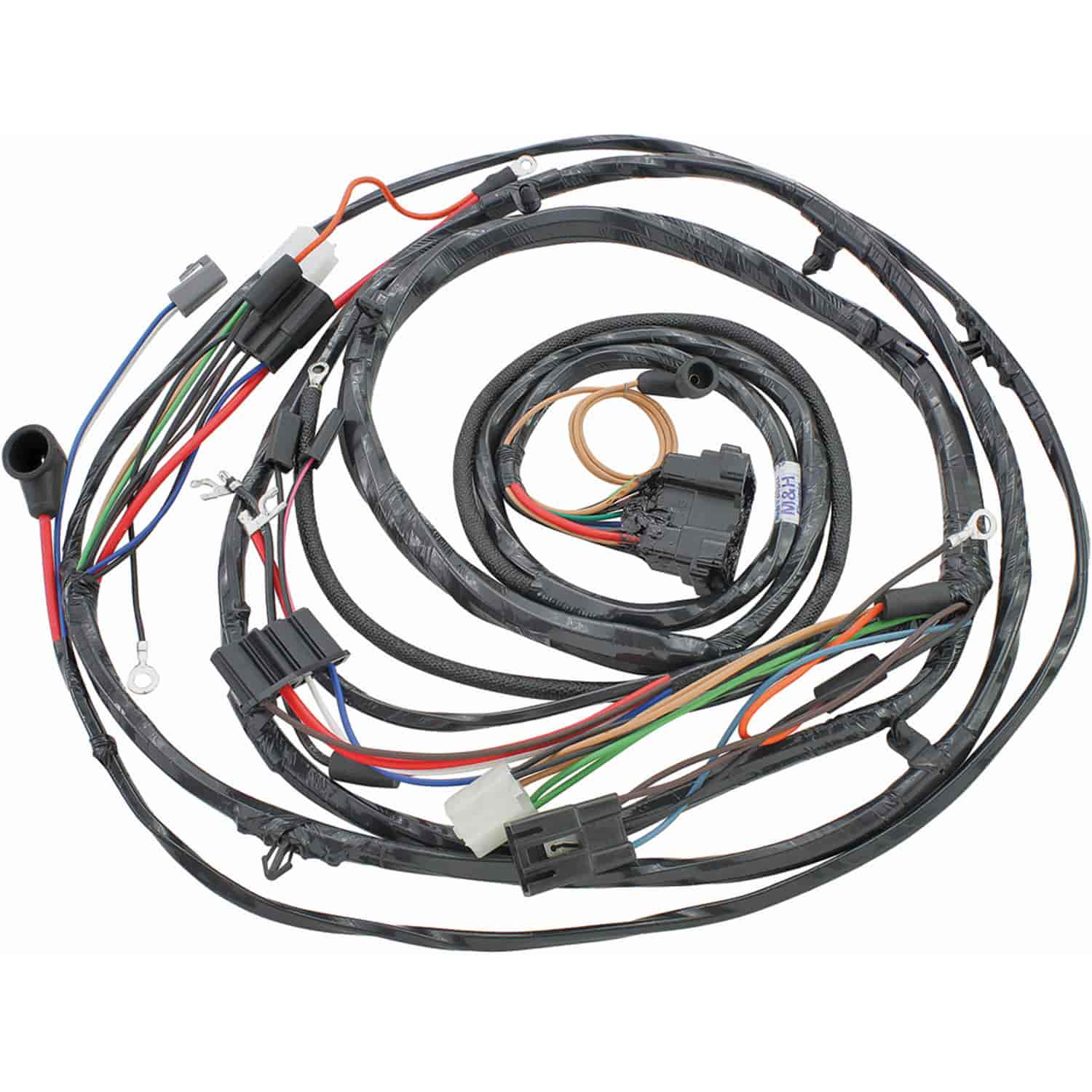 hight resolution of restoparts wiring harness forward lamp 1971 monte carlo gauges restoparts 17470